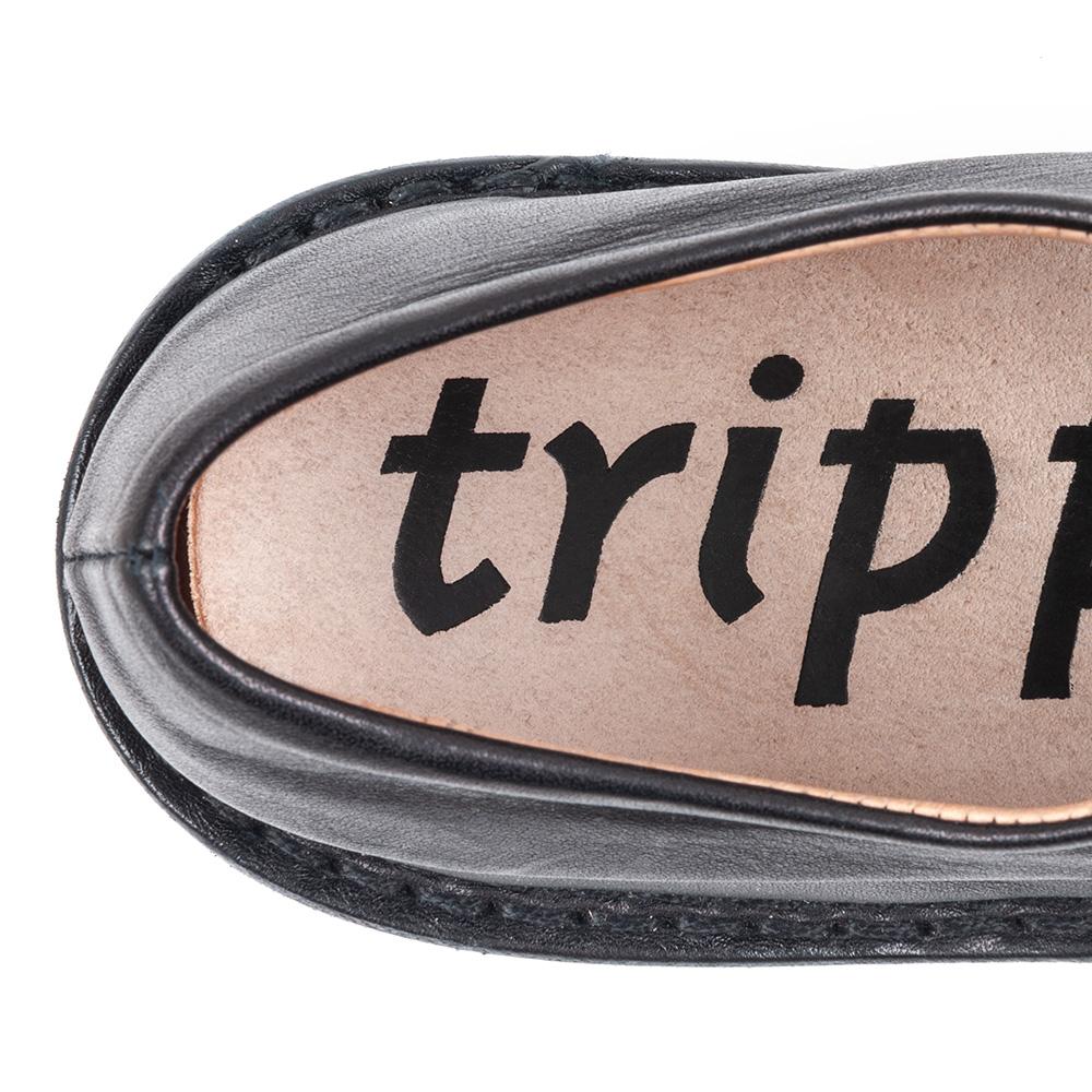 [trippen] Hem f ( black-sat )