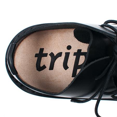 [trippen] Tyler m ( black-wax )