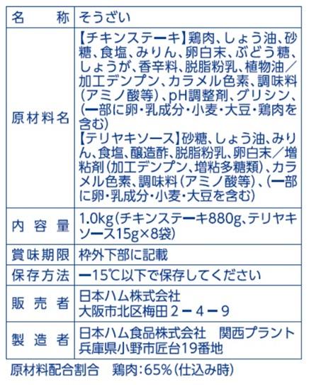 業務用テリヤキチキンステーキ【冷凍】