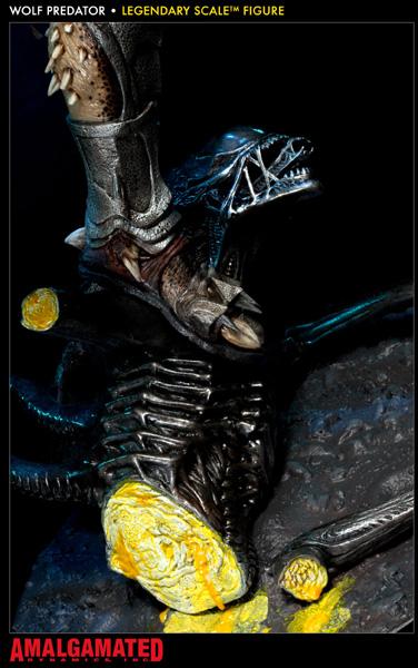 セール エイリアンVSプレデター2 レジェンダリースケールフィギュア プレデター・ザ・クリーナー(ウルフプレデター)9609