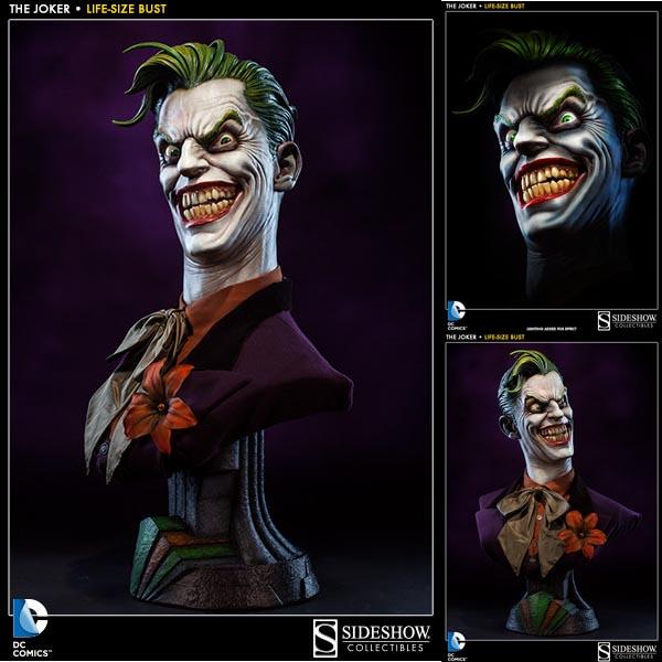 バットマン DCキャラクター ライフサイズバスト ジョーカー 予約 10834