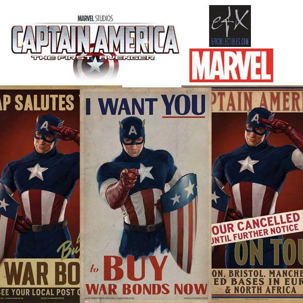 マーベル キャプテン・アメリカ プロップレプリカ ポスター3枚セット