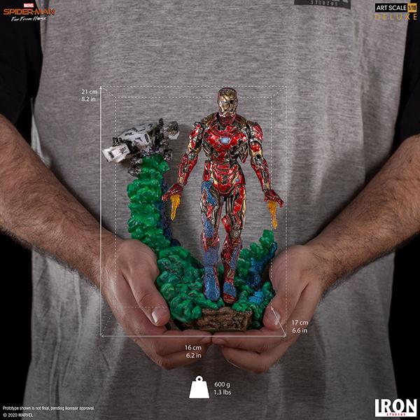 スパイダーマン :ファー・フロム・ホーム デラックス・アートスケール1/10スケールスタチュー  アイアンマン(ゾンビ版) 予約