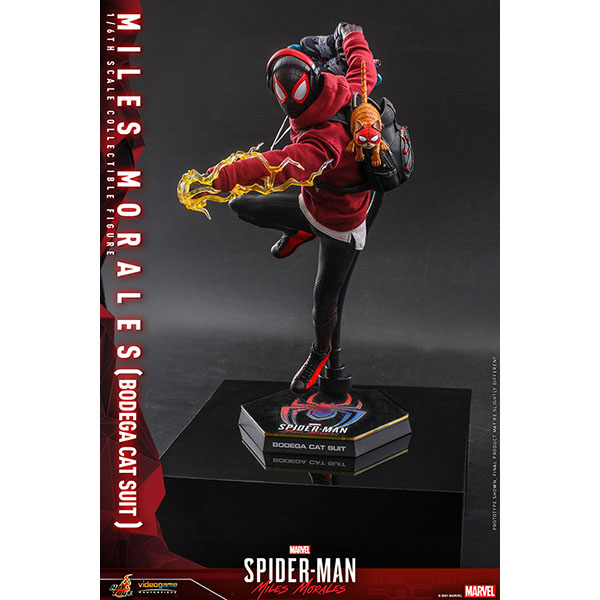 Marvel's Spider-man:Miles Morales  ビデオ・ゲームマスターピース 1/6スケールフィギュア マイルズ・モラレス/スパイダーマン(売店の看板猫スーツ版) 予約