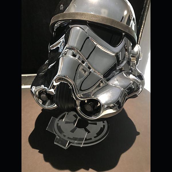スター・ウォーズ 1/1スケールヘルメットレプリカ ストームトルーパー  スター・ウォーズ40周年記念クロームメッキ版  12883