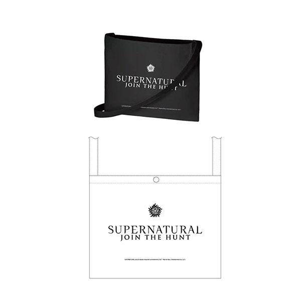 スーパーナチュラル サコッシュ・ナイトブラック・ロゴ柄 15036