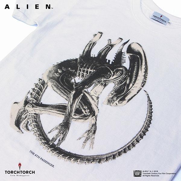 "TORCH TORCH/ エイリアン ""The 8th Passenger"" Tシャツ ホワイト 予約"
