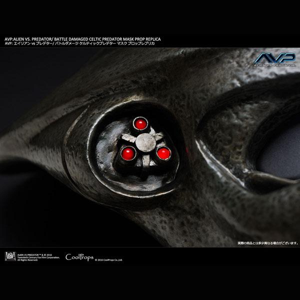 AVP:エイリアン vs プレデター/ バトルダメージド ケルティックプレデターマスク プロップレプリカ 予約 12339