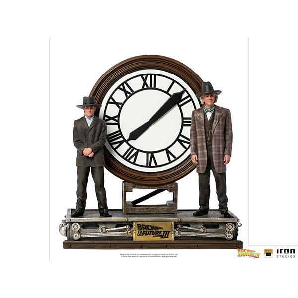 バック・トゥ・ザ・フューチャーPART3  1/10デラックス・アートスケール・スタチュー マーティ・マクフライ&エメット・ブラウン博士(大時計) 予約