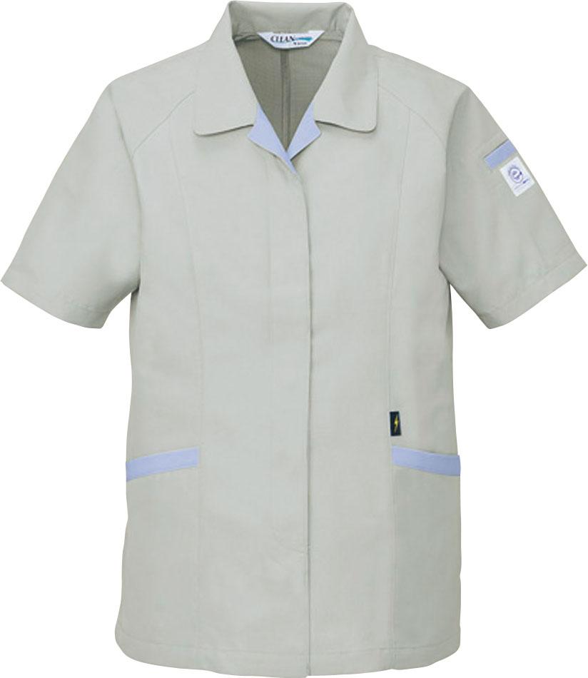 作業服 84335 自重堂 エコ低発塵 製品制電 半袖スモック