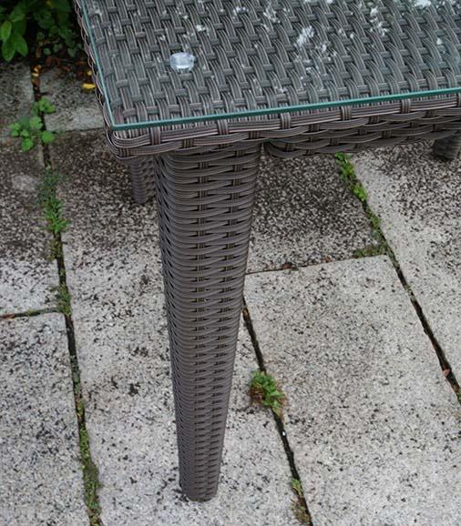 ラタン スクエアテーブル90【ガーデンテーブル】