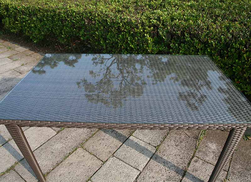 ラタン スクエアテーブル150【ガーデンテーブル】