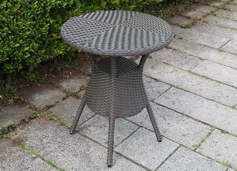 【ガーデンテーブル】ラタン テーブル60 天板ガラス無しタイプ