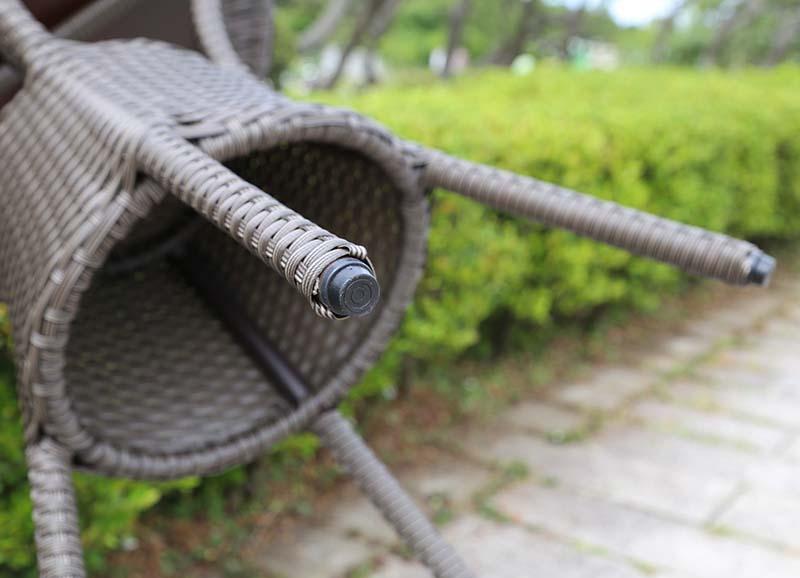 【ガーデンテーブル】ラタン テーブル80 天板ガラス無しタイプ