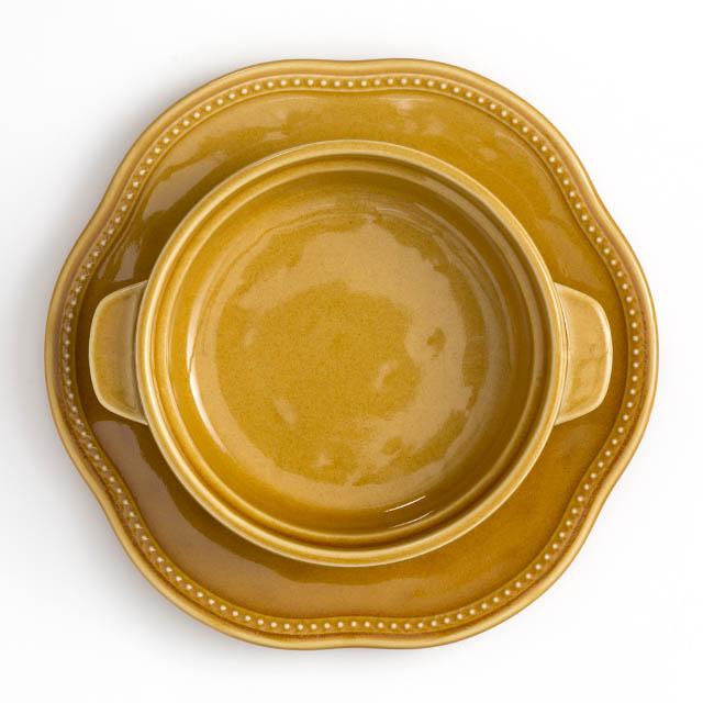 オーブン皿&受け皿セット・ブラウン[ラ・メゾン オリジナル ]