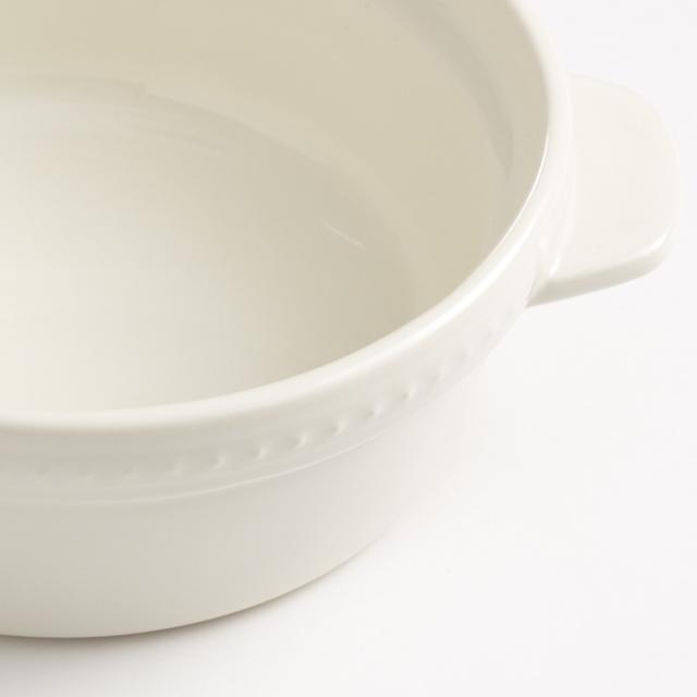 オーブン皿 小・ホワイト[ラ・メゾン オリジナル ]