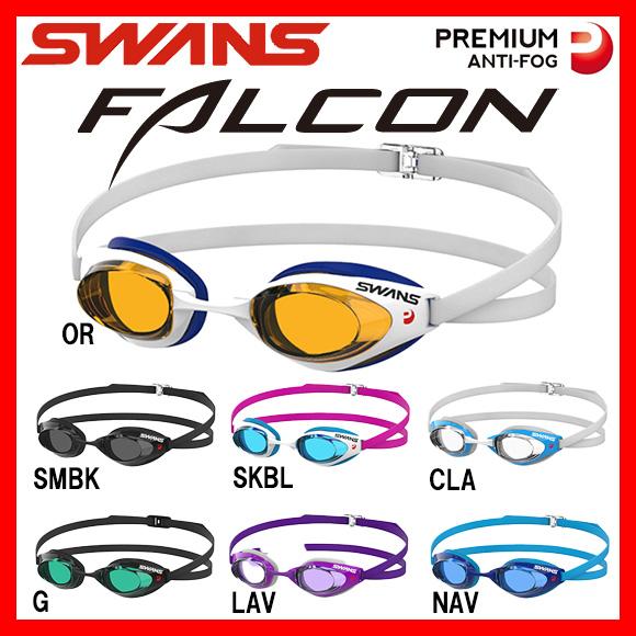 SWANS スワンズ FALCON SR71NEVPAF クッション付きスイムゴーグル 水中眼鏡 水泳 競泳 プール