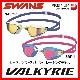 SWANS スワンズ VALKYRIE SR72MPAF クッション付きスイムゴーグル ミラーレンズ  水中眼鏡 水泳 競泳 プール