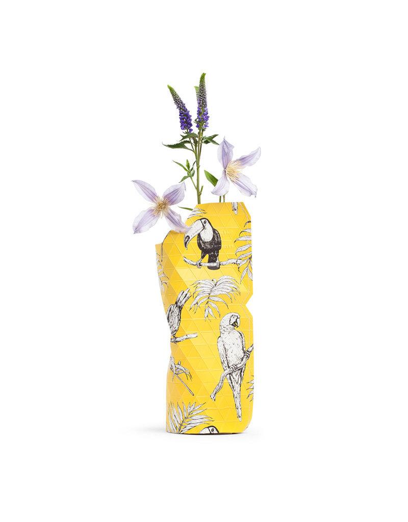 Paper Vase Coverペーパーベースカバー:Yellow Birds(Sサイズ)