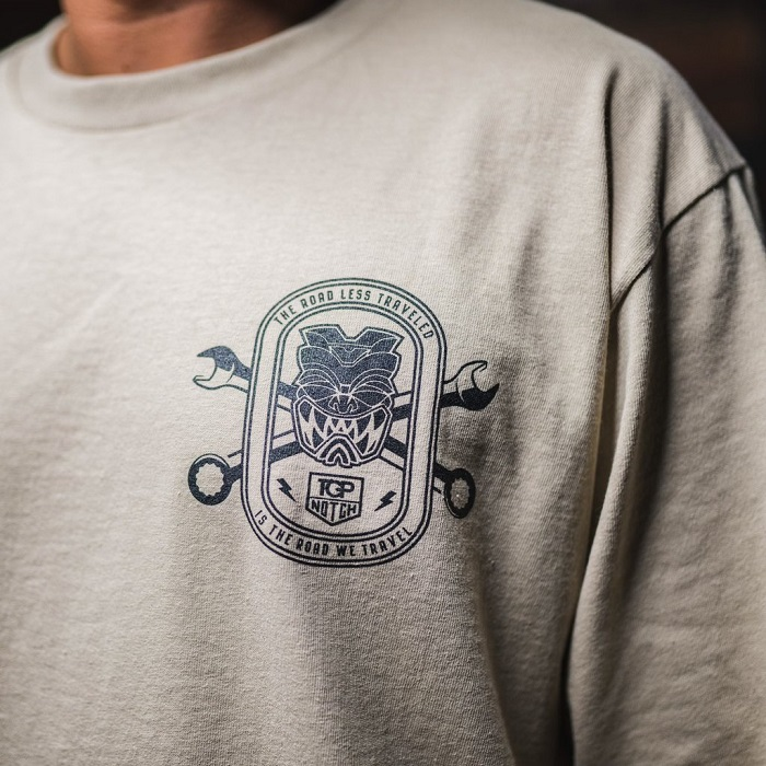 (入荷!)Top Notch Automotive ×FMHI/ Farmers Market Hawaii コラボ ロングスリーブ Tシャツ ロンT