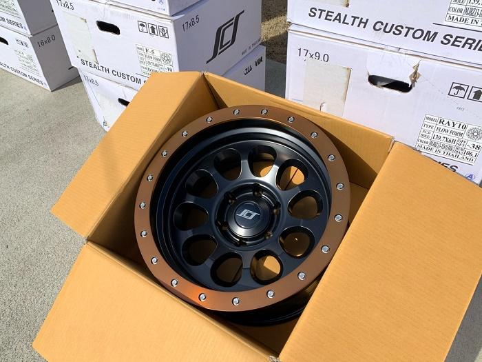 (限定品!17x8.5在庫あり!)SCS(Stealth Custom Series Wheels/ステルスカスタムシリーズ) RAY10 Limited Edition ホイール Matte Jet Black w/Blaze Bronze Lip
