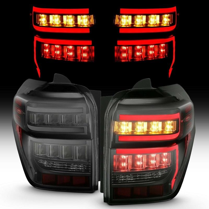 (取り寄せ対応!)14-4ランナー ブラックハウジング スモークレンズ シーケンシャル LED テールライトSET