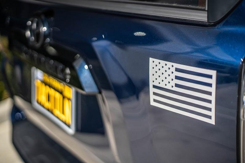 (在庫あり!)Tactilian USA タクティリアン フラッグ マグネット 2枚セット(マットメタリックグレー)