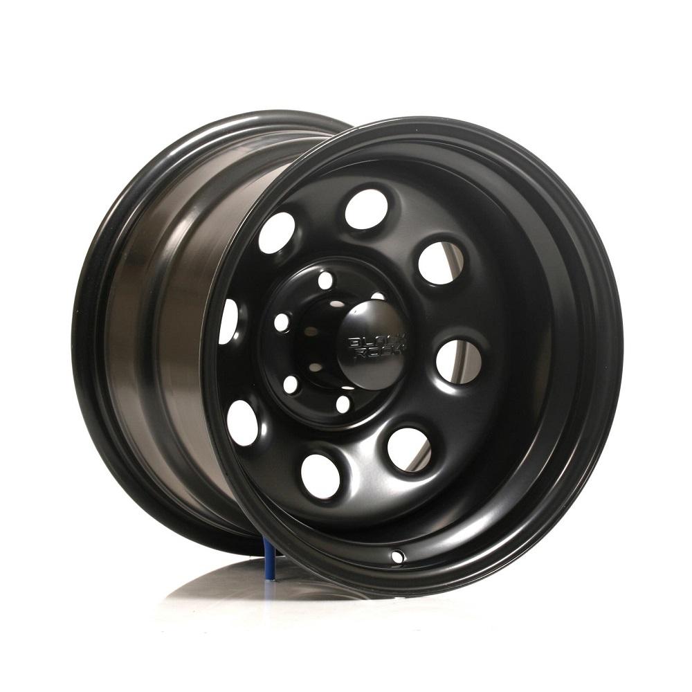 (取り寄せ対応) (Black Rock) Series 997 Type 8 17in スチール ホイール(マットブラック)