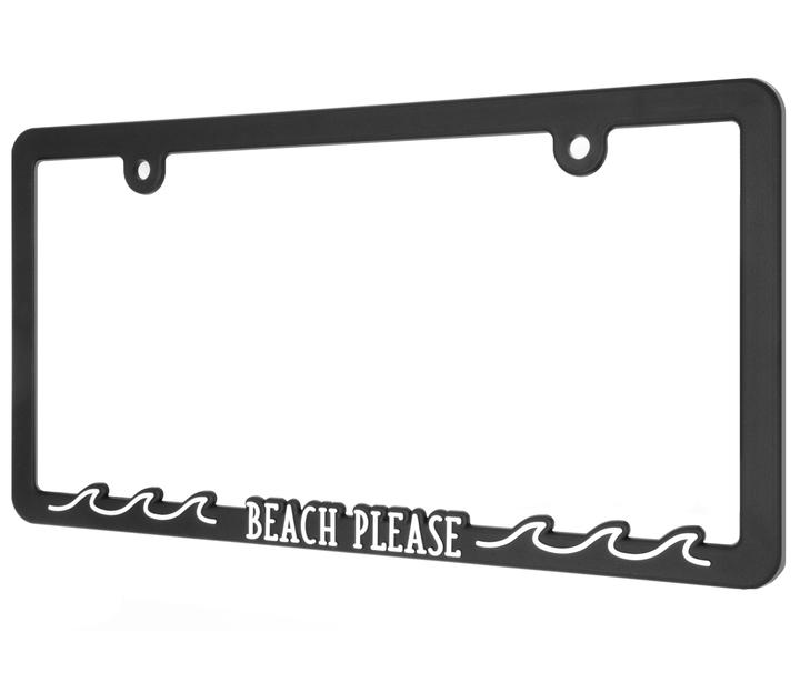 (在庫あり!)  BEACH PLEASE ライセンスプレートフレーム ナンバーフレーム