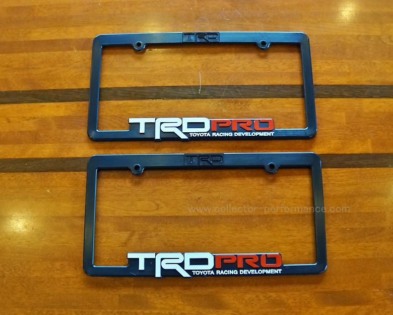TRD PRO ライセンスプレートフレーム 2枚1SET