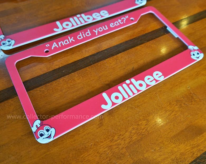 Jollibee/ジョリビー カスタムライセンスプレートフレーム/ナンバーフレーム
