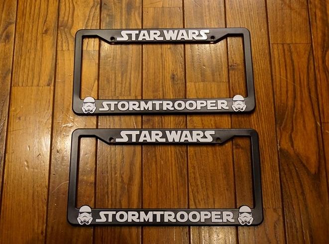 (取り寄せ対応!) STAR WARS  STORMTROOPER スターウォーズ ストームトルーパー ライセンスプレートフレーム 2枚1SET