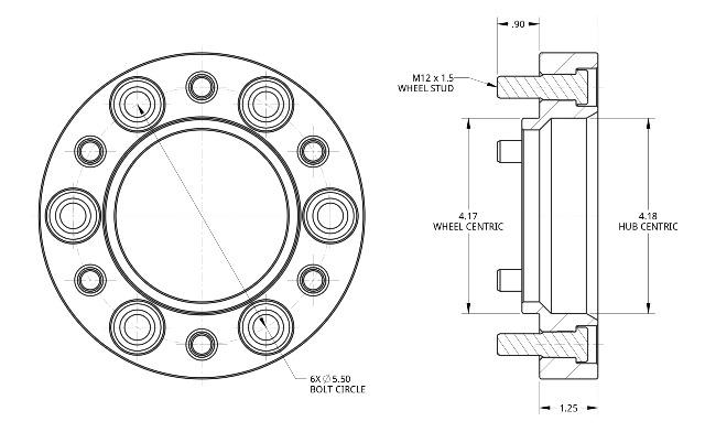 (取り寄せ対応) Spidertrax ワイドトレッドスペーサー 6H139.7/P1.5 30mm (ブルー)