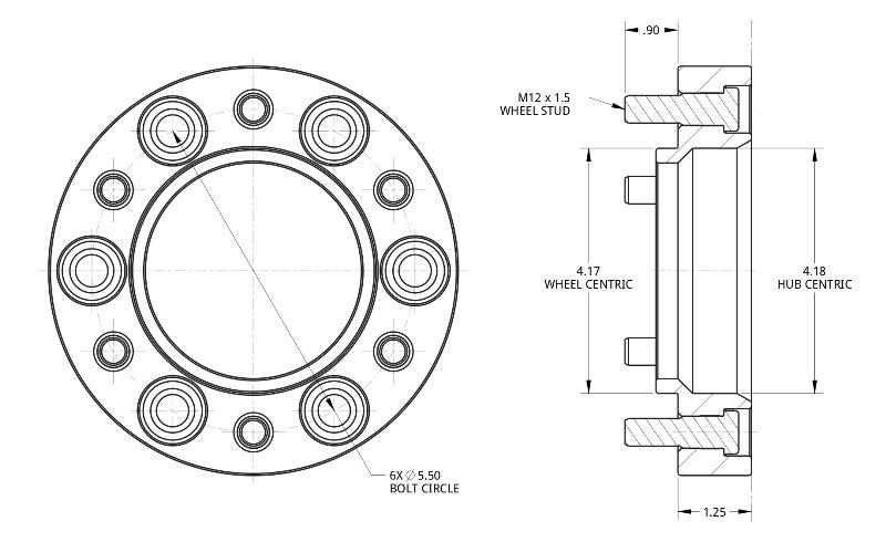 (取り寄せ対応) Spidertrax ワイドトレッドスペーサー 6H139.7/P1.5 30mm (ブラック)