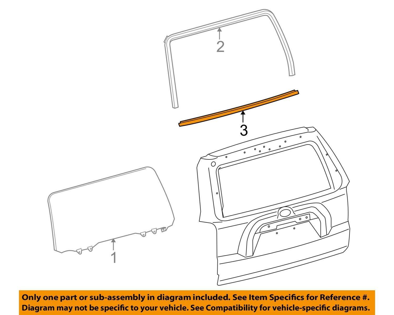 (取り寄せ対応!)10-20 4ランナー USトヨタ純正 リアゲート ガラス ウェザーストリップ・アウター