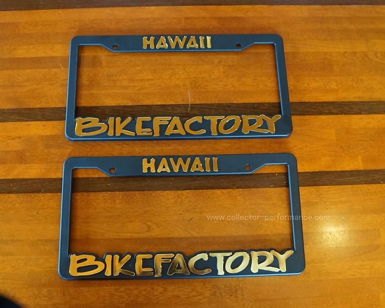 ハワイ BIKE FACTORY HAWAII/バイクファクトリーハワイ ナンバーフレーム イエロー/ホワイト/ゴールド