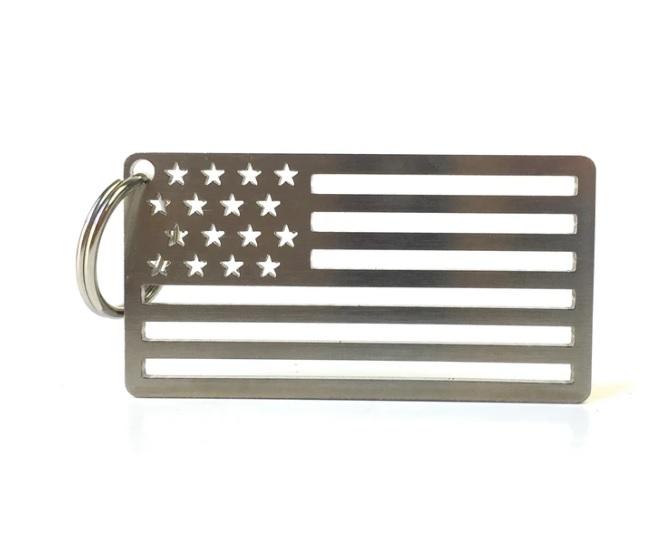American Flag  アメリカン フラッグ ステンレススチール キーチェーン/キーリング