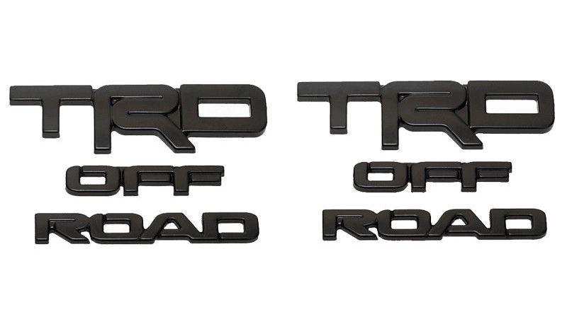 (取り寄せ対応!) USトヨタ純正 TRD OFF-ROAD ブラック エンブレム