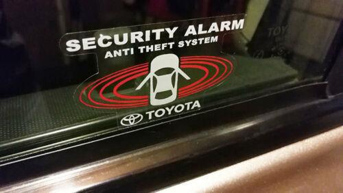 (在庫あり!)USトヨタ TOYOTA Security Systems トヨタ セキュリティシステム デカールSET(内貼りタイプ)