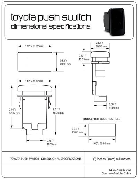 (取り寄せ対応!)4ランナー プッシュ スイッチ(グリルライトバー・タイプA)