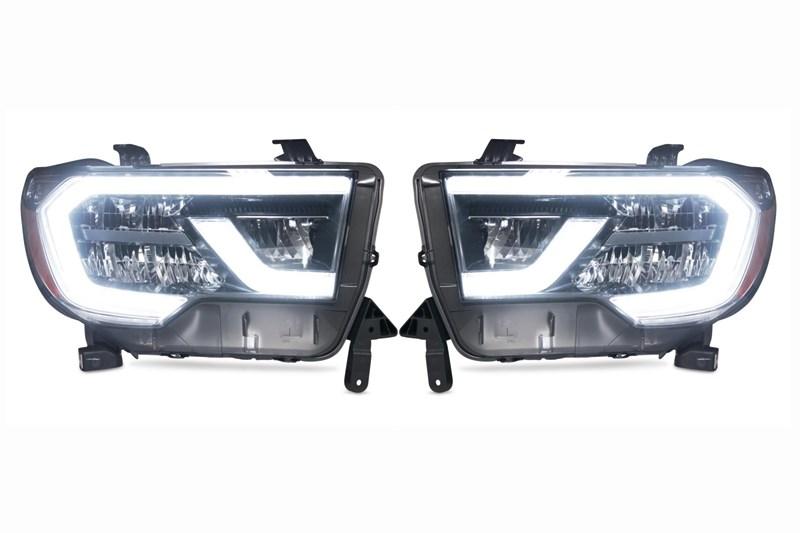 (取り寄せ対応!)07-13 タンドラ/08-セコイア 2018'純正LEDヘッドライト移植キット