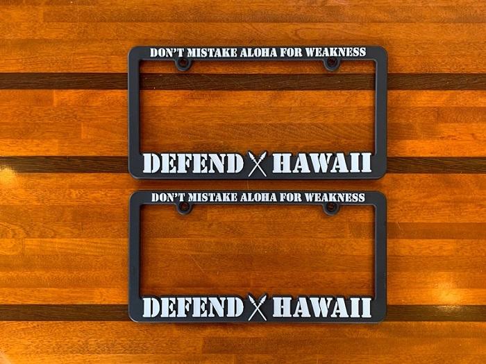 ハワイ DEFEND HAWAII ディフェンド ハワイ  ライセンスプレートフレーム ナンバーフレーム