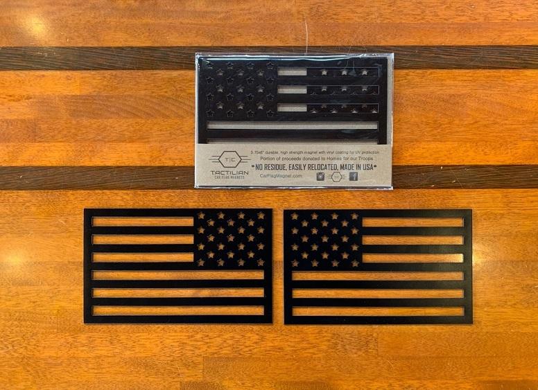 Tactilian USA タクティリアン フラッグ マグネット 2枚セット(マットブラック)