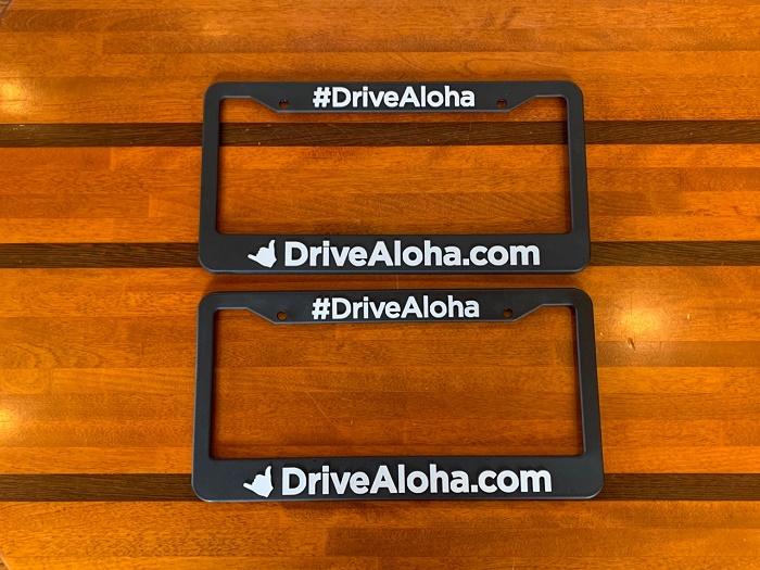 ハワイ DRIVE ALOHA ドライブ アロハ ライセンスプレートフレーム/ナンバーフレーム
