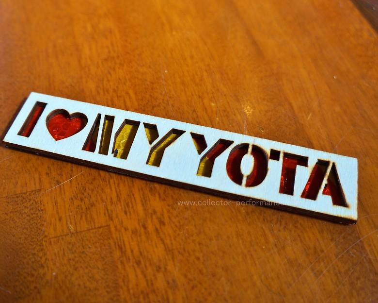 I LOVE MY YOTA ウッド パッチ