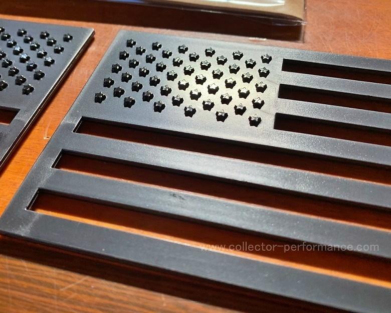 (在庫あり!)Tactilian タクティリアン USA フラッグ 3D エンブレム 2枚セット(マットブラック)