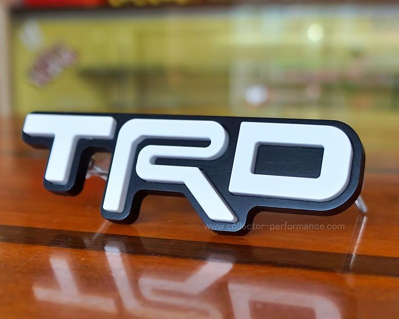 TACO VINYL/タコビニール TRD グリルバッジ ホワイト
