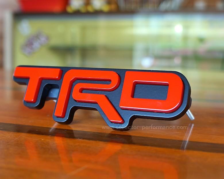 TACO VINYL/タコビニール TRD グリルバッジ レッド