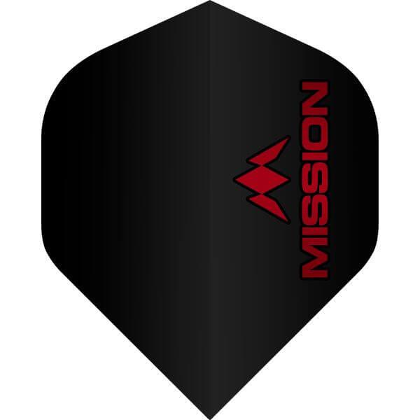 【ミッションダーツ】ミッションロゴダートフライト | スタンダード | ブラック レッドロゴ | ダーツ フライト