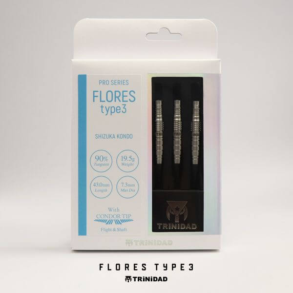 【チップ&送料無料】【トリニダード】Flores Type3 フローレス3 | 近藤静加選手 | ダーツ バレル